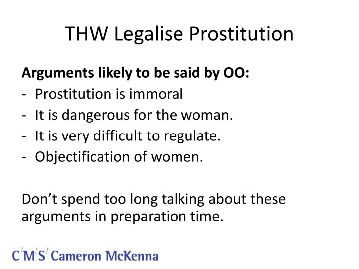 prostitution legal or illegal essay example And yet, prostitution is legal in parts of nevada, a companion to other cherished vices you don't have to be a moralist or a prude to buy the argument for banning prostitution.