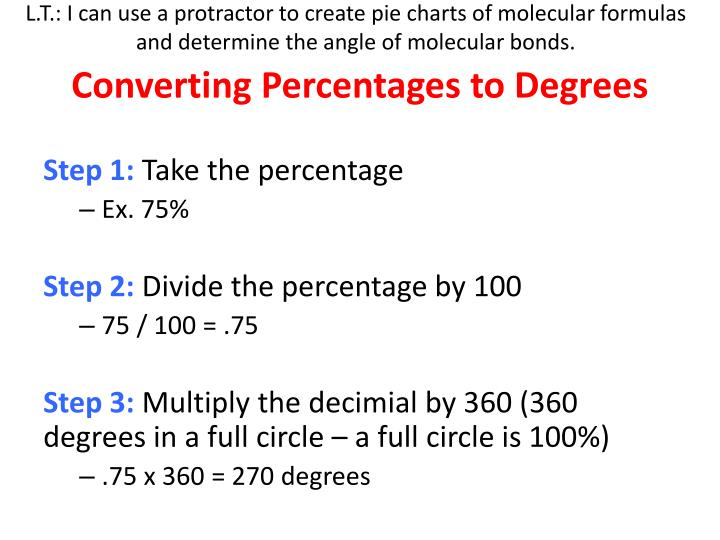 PPT - Converting Percentages to Degrees PowerPoint