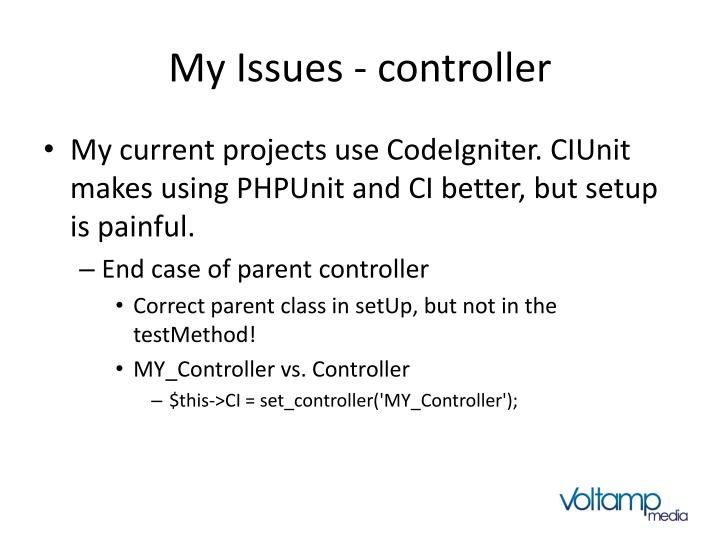 My Issues - controller