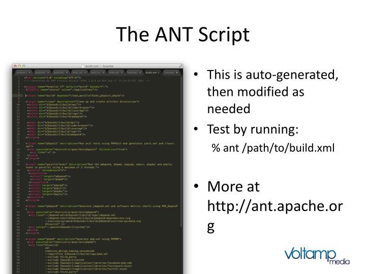 The ANT Script