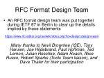 rfc format design team