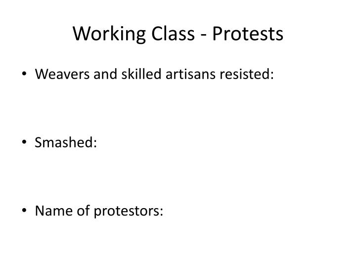 working class protests n.