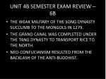 unit 4b semester exam review 6b
