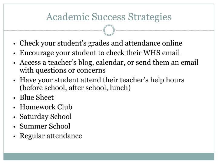 Academic Success Strategies