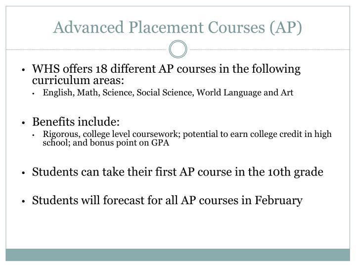 Advanced Placement Courses (AP)