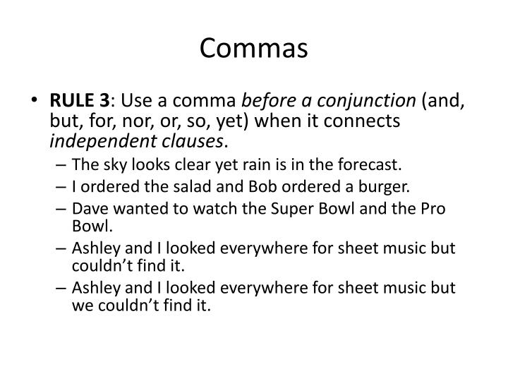 when to use a comma before but