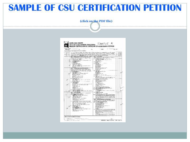 PPT - GRADUATION PETITION WORKSHOP (PLAN B) CSU General Education ...