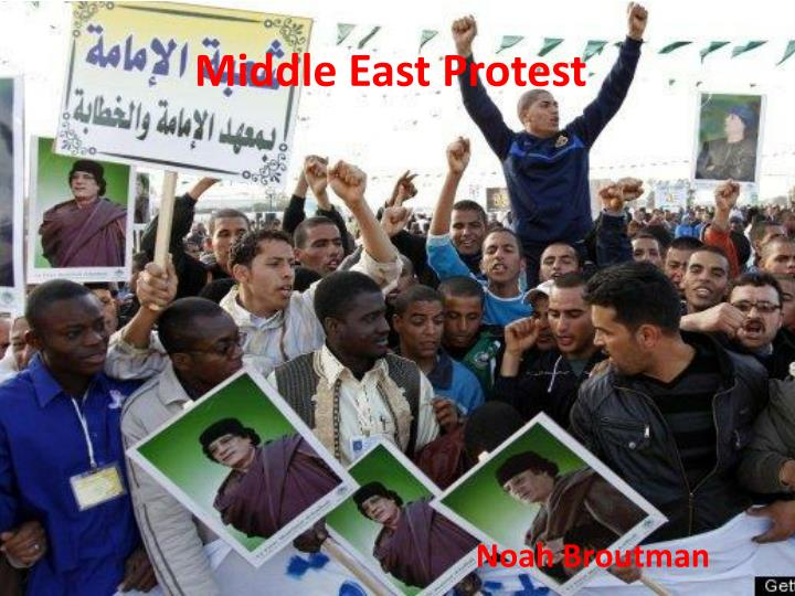 middle east protest n.