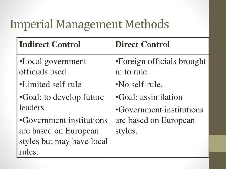 Imperial Management Methods