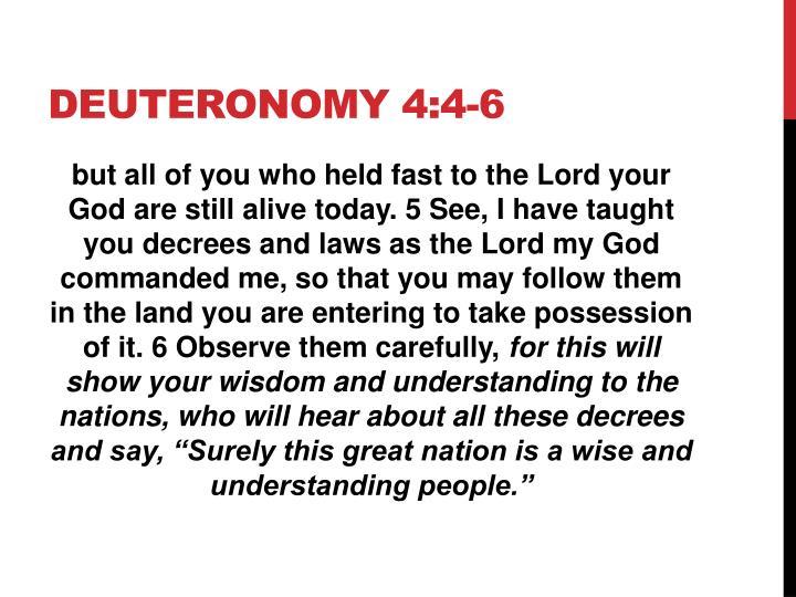 Deuteronomy 4:4-6