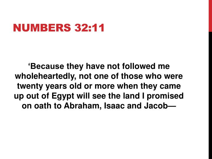 Numbers 32:11