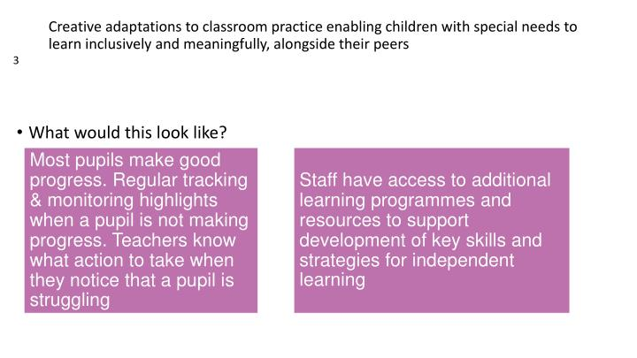 Most pupils make good progress. Regular tracking & monitoring highlights when a pupil is not making progress. Teachers know what action to take when they notice that a pupil is struggling