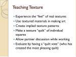 teaching texture