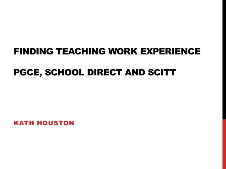 pgce foundations of teaching and learning