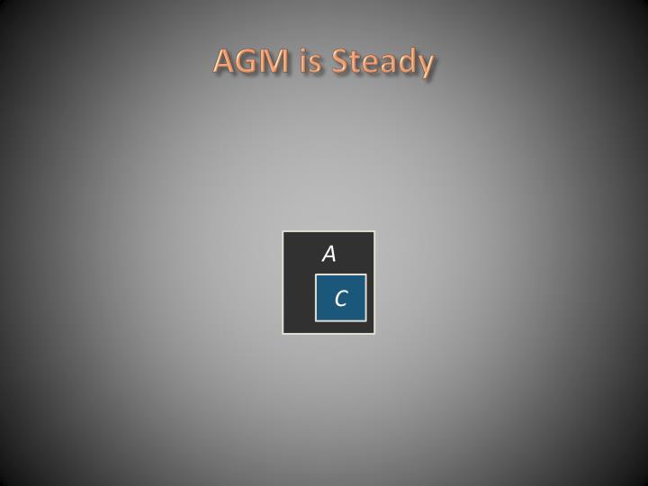 AGM is Steady