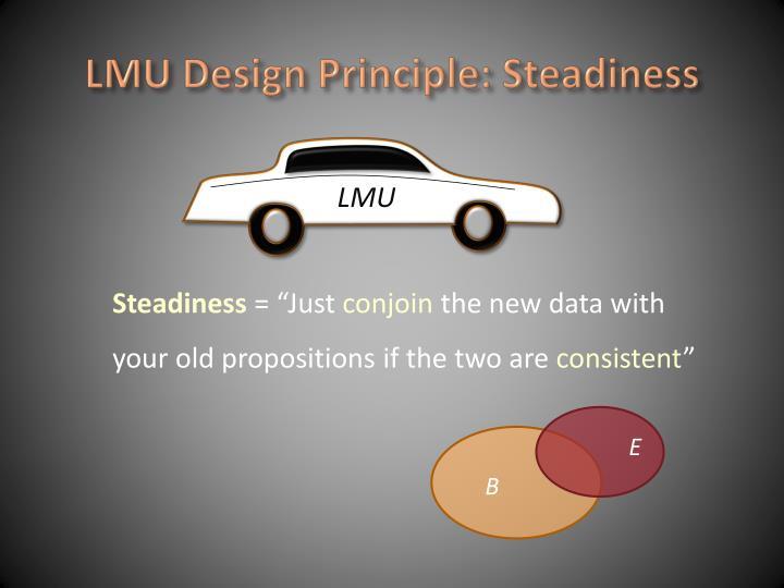 LMU Design Principle: Steadiness