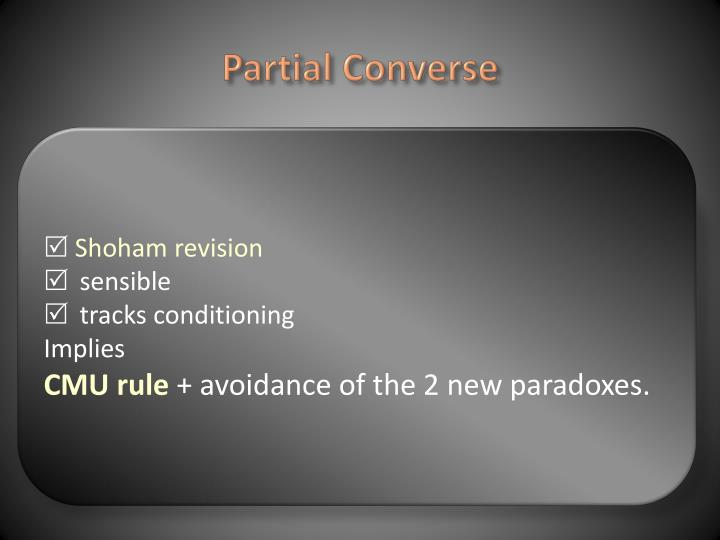 Partial Converse