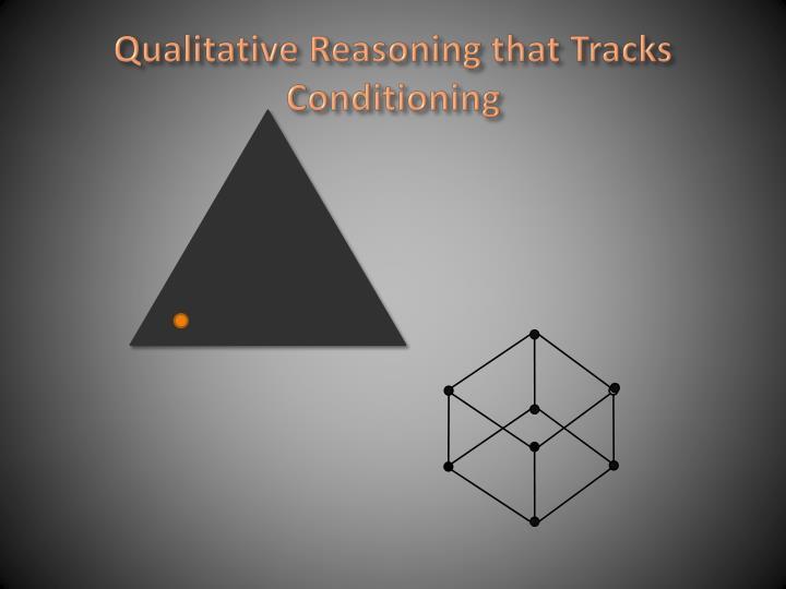 Qualitative reasoning that tracks conditioning1