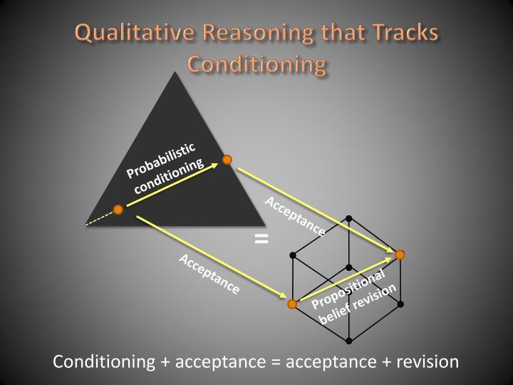 Qualitative Reasoning that Tracks Conditioning