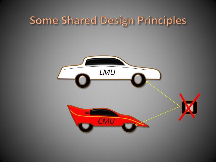 Some Shared Design Principles