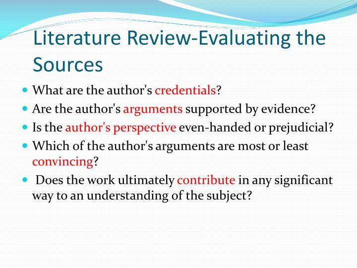 evaluating references in dissertations How to search and critically evaluate research literature  references  the process of searching and evaluating research.