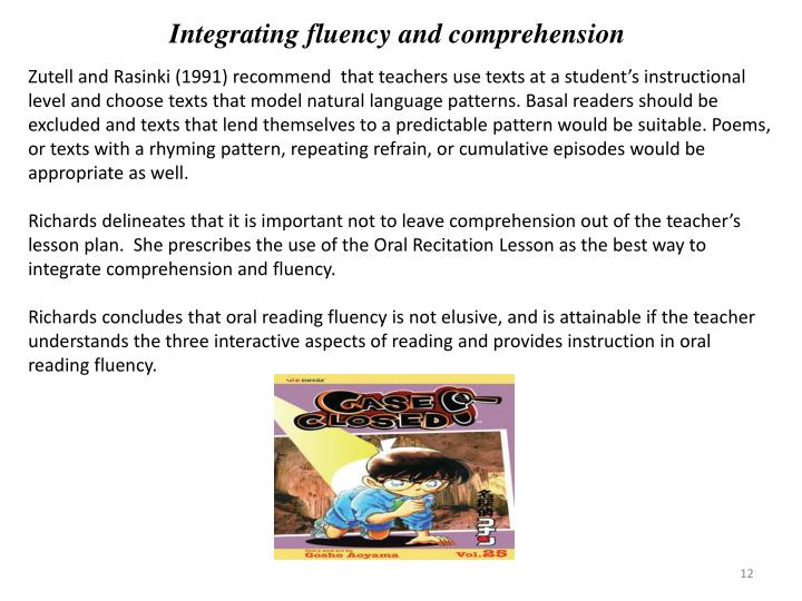 Integrating fluency and comprehension