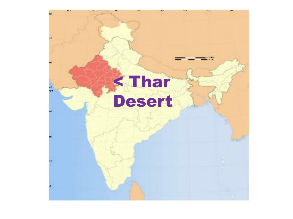 location of thar desert in india map Ppt India Map Powerpoint Presentation Free Download Id 2590353 location of thar desert in india map