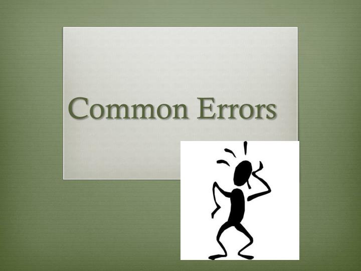 common errors n.