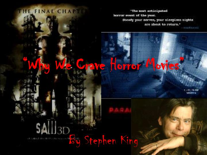 essay about why we crave horror