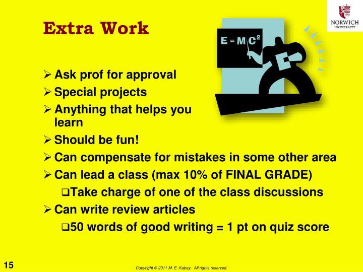 Extra Work