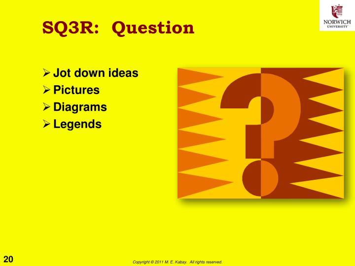 SQ3R:  Question