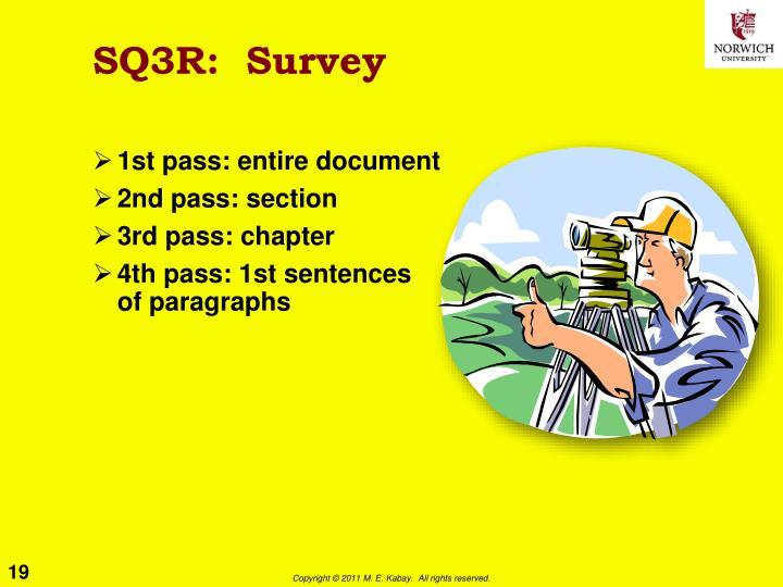 SQ3R:  Survey