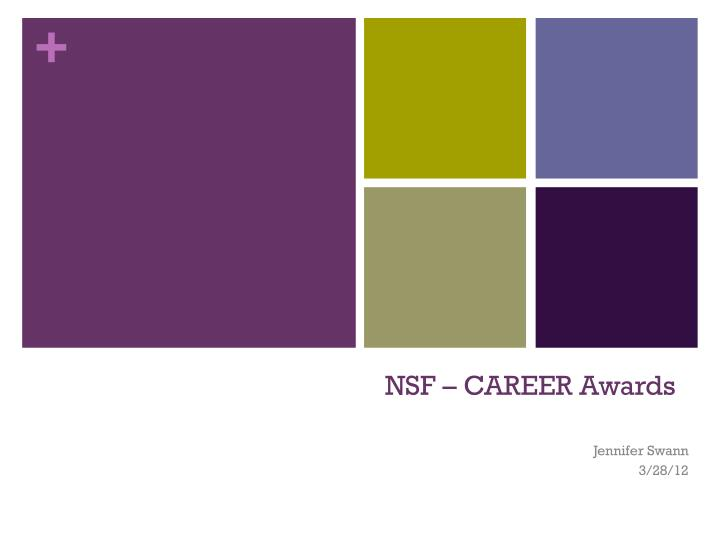 nsf career awards n.
