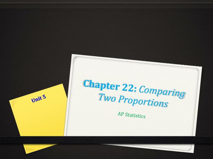 chapter 22 comparing two proportions n.