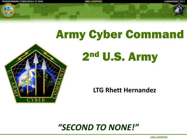 Ppt army cyber command 2 nd us army powerpoint presentation army cyber command2nd us army toneelgroepblik Images