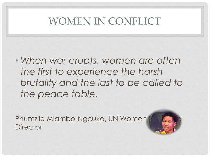 Women in conflict1