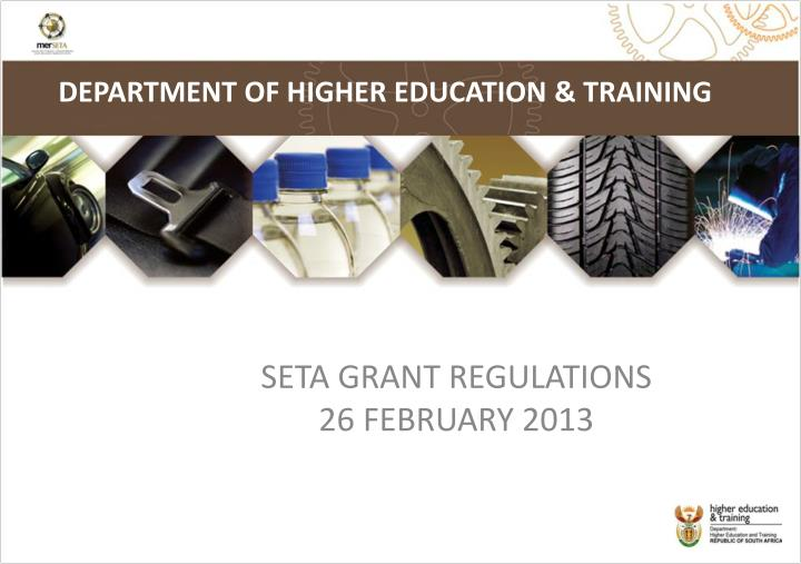 department of higher education training