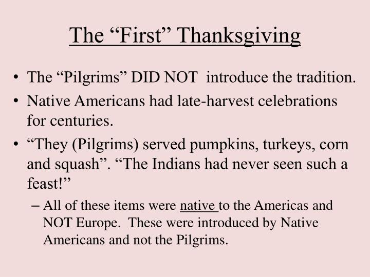 """The """"First"""" Thanksgiving"""