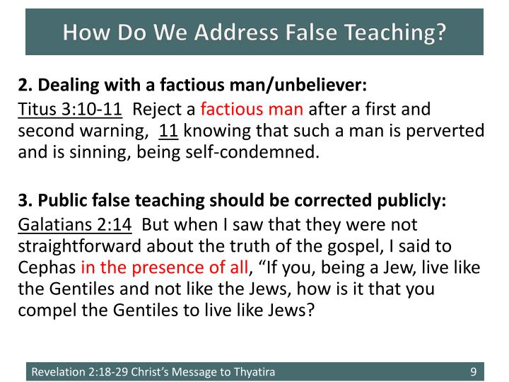 How Do We Address False Teaching?