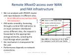remote xrootd access over wan and fax infrastructure