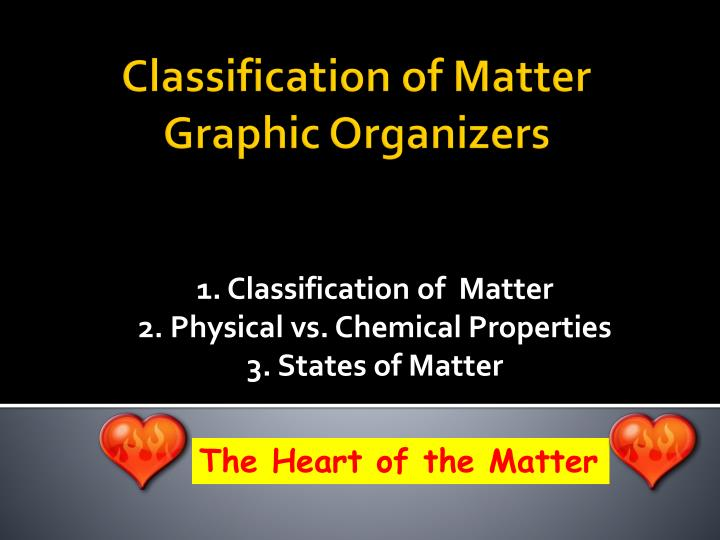 1 classification of matter 2 physical vs chemical properties 3 states of matter n.