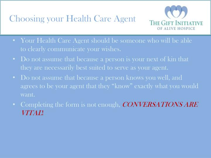 Choosing your Health Care Agent