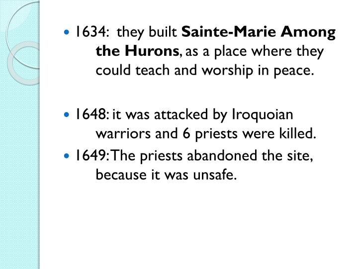 1634:  they built