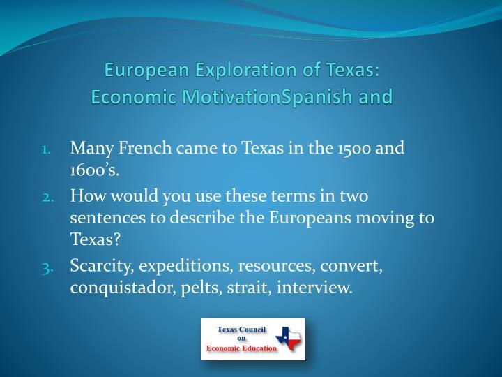 European Exploration of Texas: