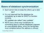 bases of database synchronization1