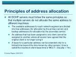 principles of address allocation