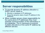 server responsibilities