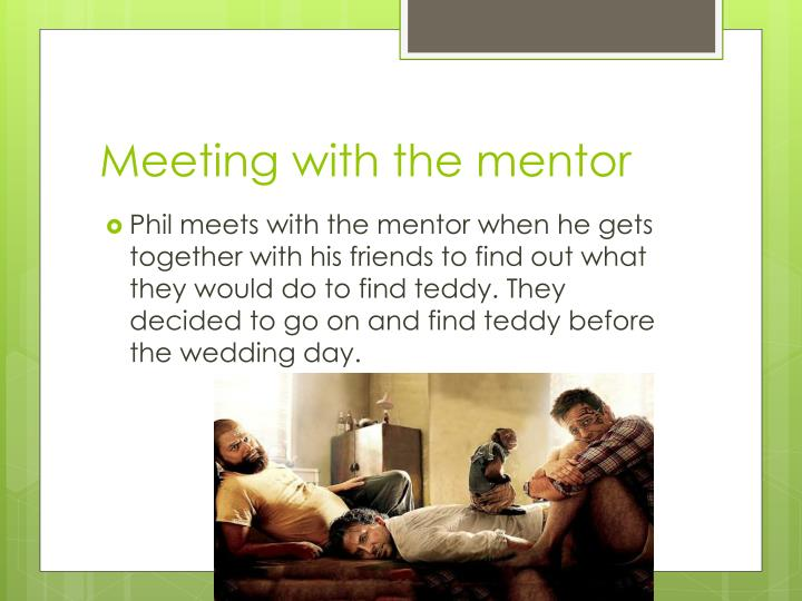Meeting with the mentor
