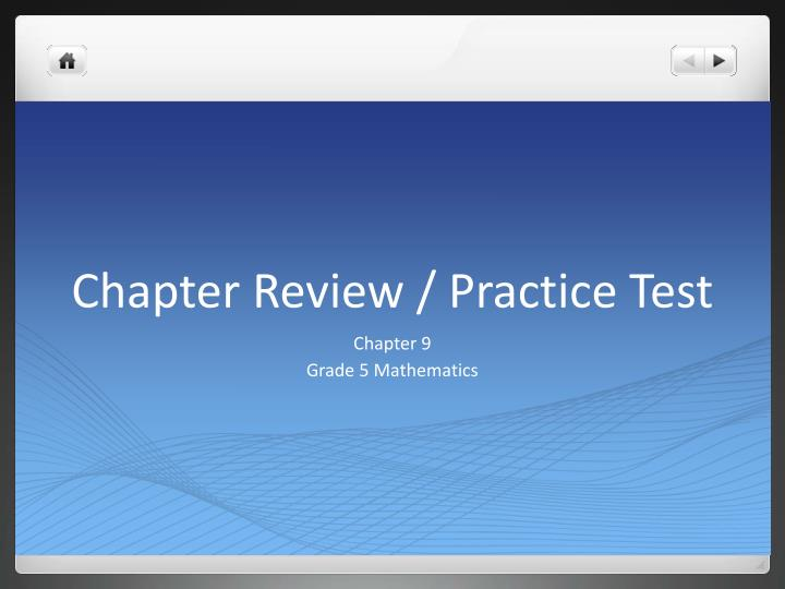 Chapter review practice test