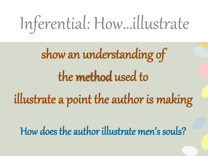 Inferential: How…illustrate
